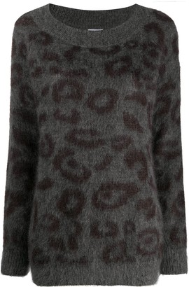P.A.R.O.S.H. Leopard Knitted Jumper