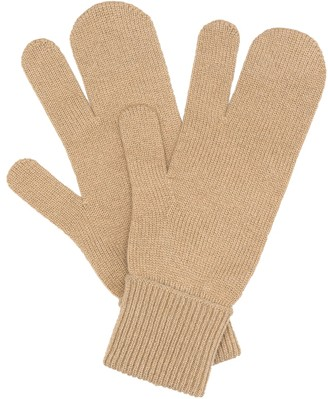 Maison Margiela Tabi wool and cashmere gloves