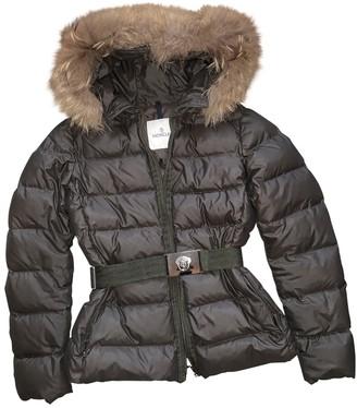 Moncler Fur Hood Brown Raccoon Coat for Women