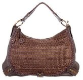 Isabella Fiore Leather & Woven Bag