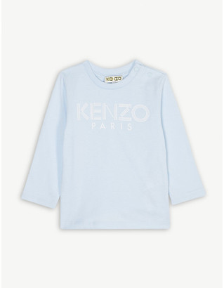 Kenzo Striped logo cotton long-sleeve T-shirt 6-36 months