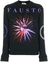 Fausto Puglisi sun print logo sweatshirt