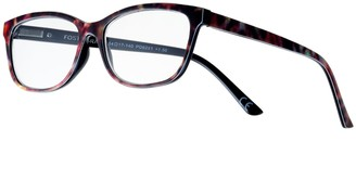 Foster Grant Women's Modera by Samira Tortoise Square Reading Glasses