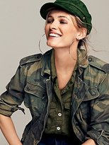Free People Lou Lou Military Buttondown