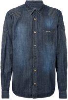 Philipp Plein ribbed panel denim shirt - men - Cotton - L