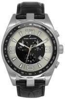 Daniel Hechter Men's Quartz Watch with Black Dial Analogue Display Quartz Leather DHH 005 FA