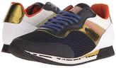 Etro Mesh Overlay Leather Runner Sneaker