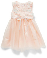 Britt Girls 3d Floral Bodice With Tulle Skirt (6-36M)