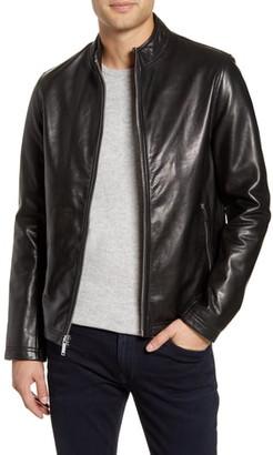 Karl Lagerfeld Paris Leather Racer Jacket