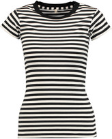 R 13 Striped cotton-jersey T-shirt