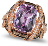 LeVian Le Vian Amethyst (5-2/4 ct. t.w.) and Diamond (3/4 ct. t.w.) Ring in 14k Rose Gold