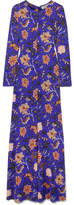 Diane von Furstenberg Floral-print Silk Maxi Dress - Purple