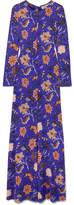 Diane von Furstenberg Printed Silk Maxi Dress - Purple