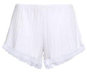 Skin Berit Ribbed Pima Cotton Pajama Shorts