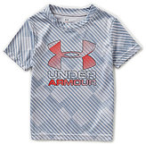Under Armour Little Boys 2T-7 Tilt Shift Printed Big Logo Short-Sleeve Tee