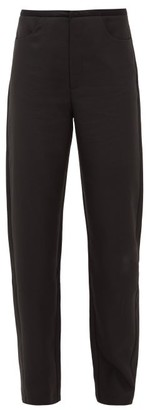 Totême Nave Straight-leg Grain-de-poudre Trousers - Womens - Black