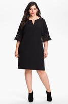 Adrianna Papell Crepe Shift Dress (Plus)