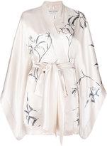 Carine Gilson printed short kimono - women - Silk - S