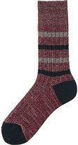 Uniqlo Men Heattech Rib Stripe Socks