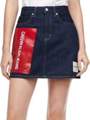 3d59061ec55f Calvin Klein Denim Skirt - ShopStyle