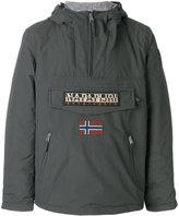 Napapijri logo patch pull-over jacket