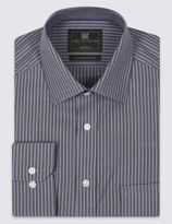 Marks and Spencer Performance Pure Cotton Non-Iron Striped Shirt