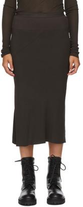 Rick Owens Brown Cady Skirt