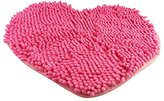 Super Soft Lovely Heart Love Shaped Pad Chenille High Absorption Rug Shaggy Door Mat Doormat Carpet Bathroom Kitchen Home Floor Decoration (5060cm, Pink)
