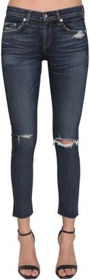 Rag & Bone Raw Hem Destroyed Skinny Jeans