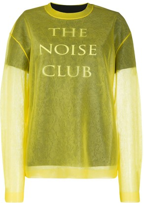 Mcq Swallow The Noise Club jumper