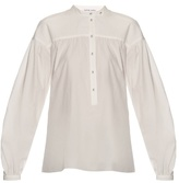 Tomas Maier Gathered-yoke poplin blouse