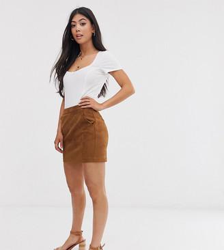 Vero Moda Petite faux suede mini skirt