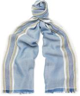 Loro Piana Striped Cashmere and Silk-Blend Scarf