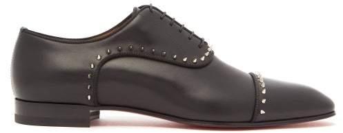 af271a91b3d Eton Spike Leather Derby Shoes - Mens - Black