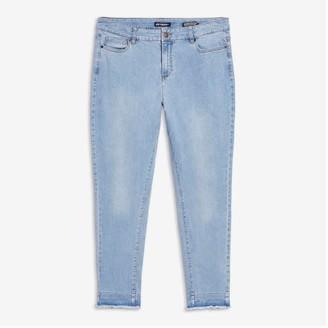 Joe Fresh Women+ Classic Slim-Fit Jeans, Bright Blue (Size 16)