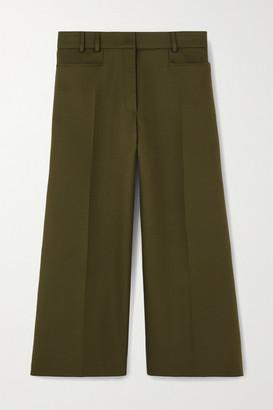 Stella McCartney Charlotte Cropped Twill Wide-leg Pants - Army green