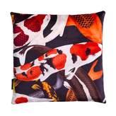 Arlette Ess Koi II Style 2 Multicolour Velvet Cushion