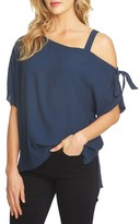 1 STATE Women's 1.state One-Shoulder Tie Sleeve Blouse
