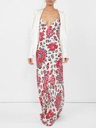 Rebecca De Ravenel Silk Braided Gown