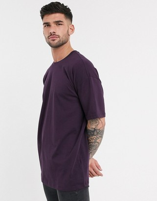 New Look oversized t-shirt in deep purple