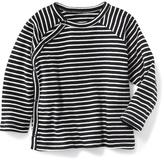 Old Navy Cotton Raglan Long Sleeve Side Snap Tee for Baby