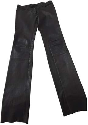Ventcouvert Black Leather Trousers for Women