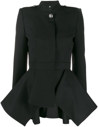 Alexander McQueen Draped Peplum Military Jacket