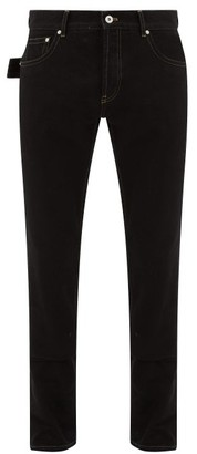 Bottega Veneta V-stitched Straight-leg Jeans - Black