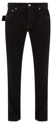Bottega Veneta V-stitched Straight-leg Jeans - Mens - Black