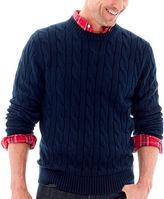ST. JOHN'S BAY St. John's Bay Cable-Knit Crewneck Sweater