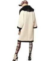 Fausto Puglisi Wool Crepe Caban Coat