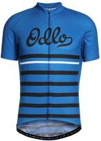 Odlo Standup Collar Fujin Print Print Tshirt Energy Blue/black/retro