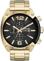 Diesel Overflow Chronograph Gold Tone Stainless Steel Bracelet Watch