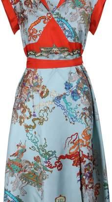 Gucci Roi Soleil silk dress